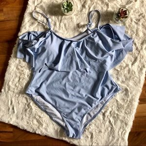 Boohoo Off Shoulder with straps Swimsuit